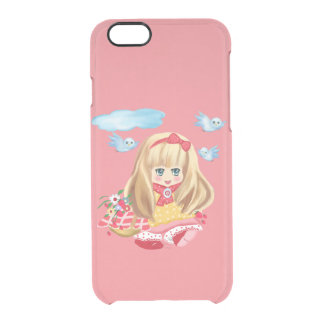 girl with basket clear iPhone 6/6S case
