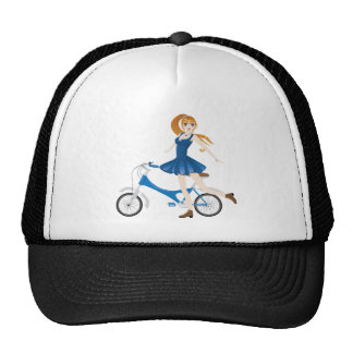 Girl with Bicycle 2 Cap