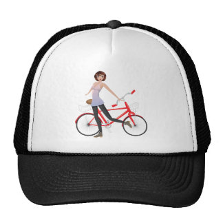 Girl with Bicycle Cap