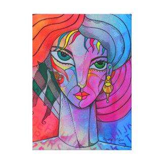Girl with birds canvas print