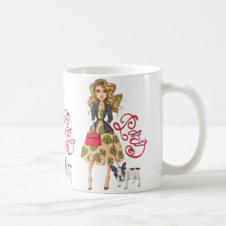 Girl with Bulldog Coffee Mug