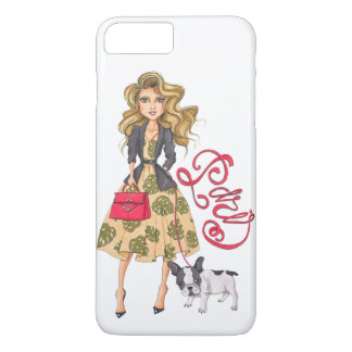 Girl with Bulldog iPhone 8 Plus/7 Plus Case