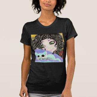 girl with cat 1 shirt