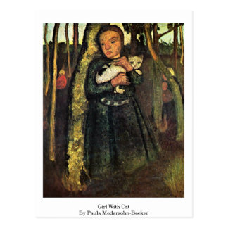 Girl With Cat By Paula Modersohn-Becker Postcard