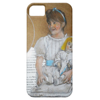 girl with doll backward barely there iPhone 5 case