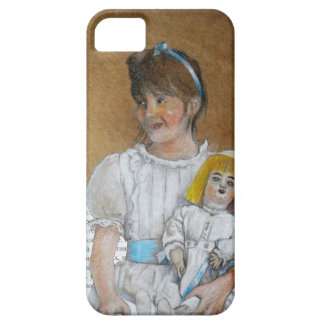 girl with doll backward iPhone 5 cases