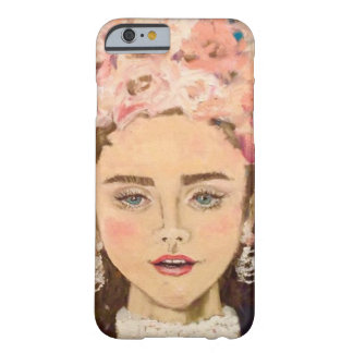 Girl with flowers barely there iPhone 6 case