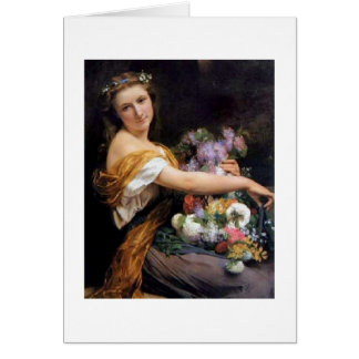 Girl with Flowers, Card