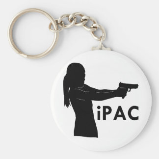 Girl With Gun iPac Keychains