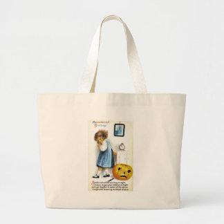 Girl with Jack o Lantern Bags