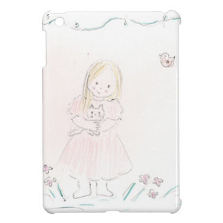 Girl with Kitten Cover For The iPad Mini
