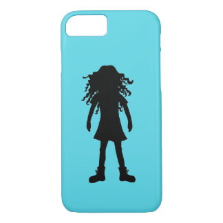 Girl with long curly hair iPhone 8/7 case