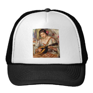 Girl with mandolin by Pierre Renoir Mesh Hats