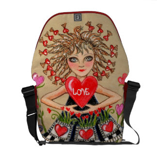 Girl with Mother's Day Heart Commuter Bag