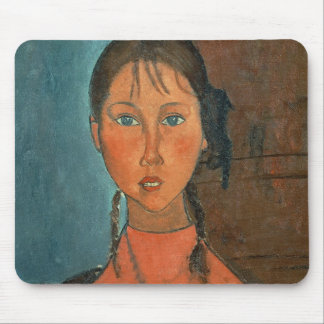 Girl with Pigtails, c.1918 (oil on canvas) Mouse Pad