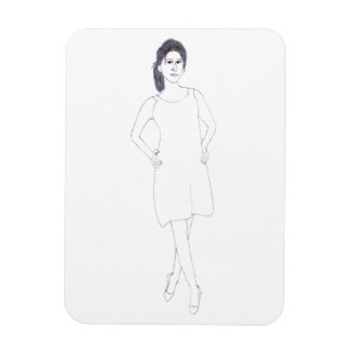Girl with Plain Dress photo magnet
