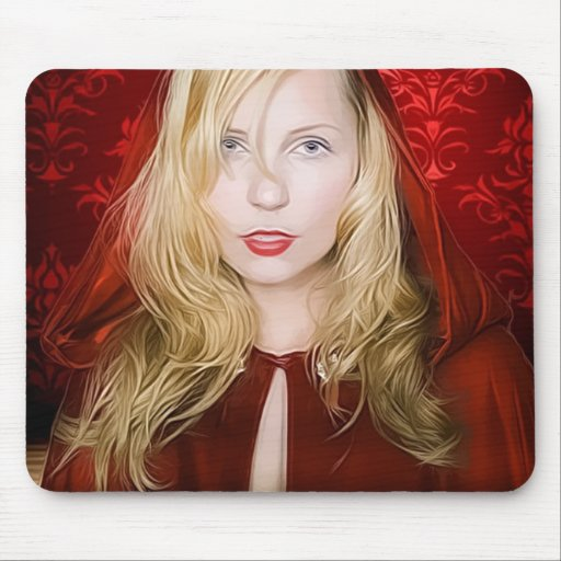 girl with red cape mouse pad