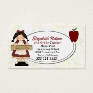 Girl with Ruler Teacher's business card