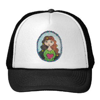 Girl with Stars in her Hair Trucker Hat