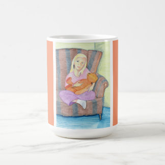Girl with Teddy Bear Ceramic Mug