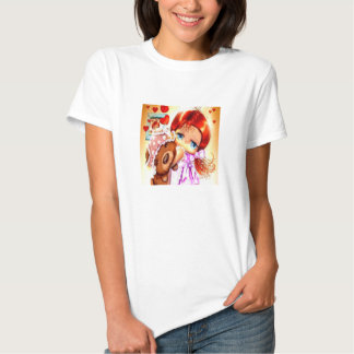 Girl With Teddy Bear Shirts