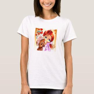 Girl With Teddy Bear T-Shirt