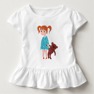 Girl with Teddy bear Toddler T-Shirt