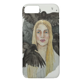 Girl with the crows iPhone 8/7 case