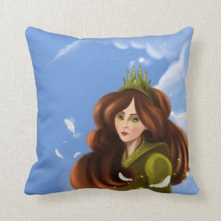 girl with the green crown American MoJo Pillows