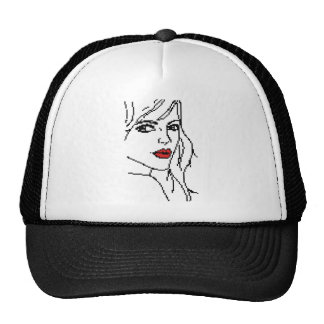 Girl with the red lips cap