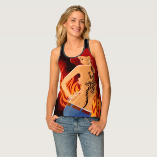 Girl with the Tattoo Singlet