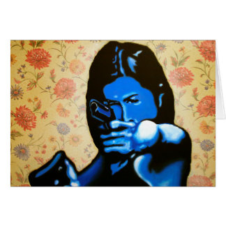 """""""Girl with Two Guns"""" by Axel Bottenberg Card"""