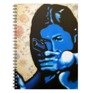 """Girl with Two Guns"" by Axel Bottenberg Notebook"