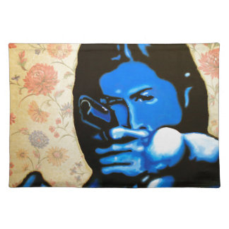 """Girl with Two Guns"" by Axel Bottenberg Placemat"