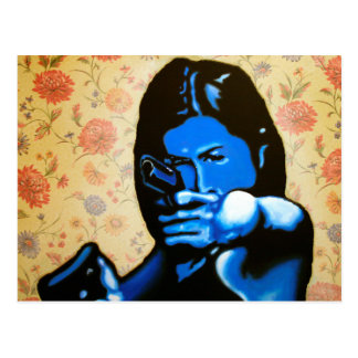 """""""Girl with Two Guns"""" by Axel Bottenberg Postcard"""