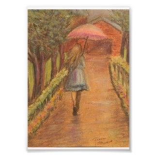Girl with Umbrella 5 x 7 Print Photo