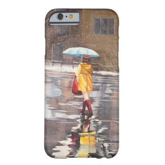 Girl with umbrella barely there iPhone 6 case