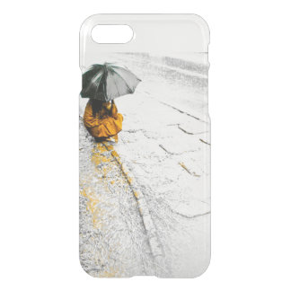 Girl with Umbrella Rainy Day iPhone matte cover. iPhone 7 Case
