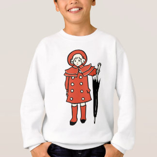 Girl With Umbrella Sweatshirt