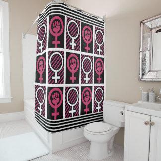 Girl/Woman Power Shower Curtain