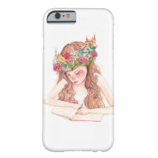 Girl writing book barely there iPhone 6 case