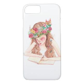 Girl writing book iPhone 7 case