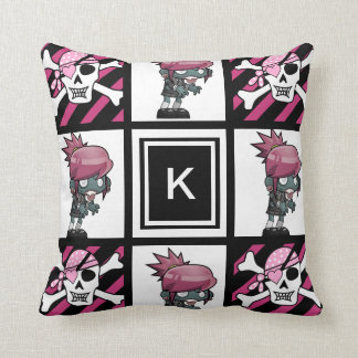 Girl Zombies & Pirates Cushion