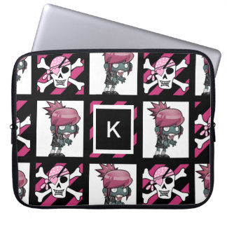 Girl Zombies & Pirates Laptop Sleeve