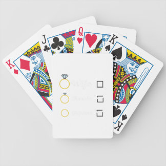 Girlfriend Fiancee Wife hen Party Zno5a Bicycle Playing Cards