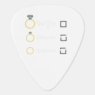 Girlfriend Fiancee Wife hen Party Zno5a Guitar Pick