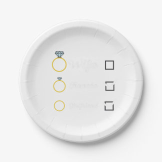 Girlfriend Fiancee Wife hen Party Zno5a Paper Plate
