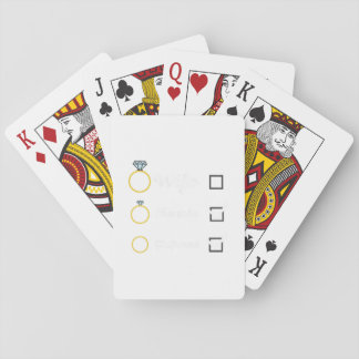Girlfriend Fiancee Wife hen Party Zno5a Playing Cards