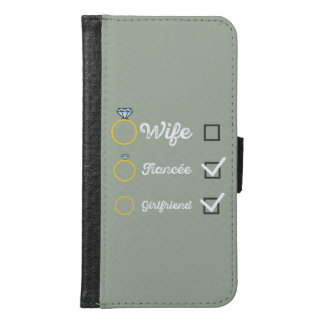 Girlfriend Fiancee Wife hen Party Zno5a Samsung Galaxy S6 Wallet Case