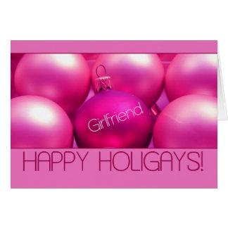 Girlfriend - Happy Holigays Card (Lesbian X-mas)